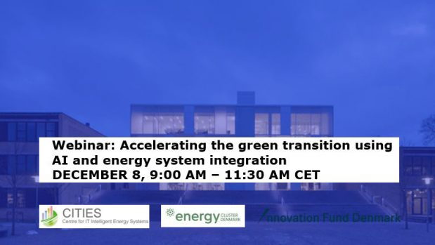 Webinar on December 8: Accelerating the green transition using AI and energy system integration